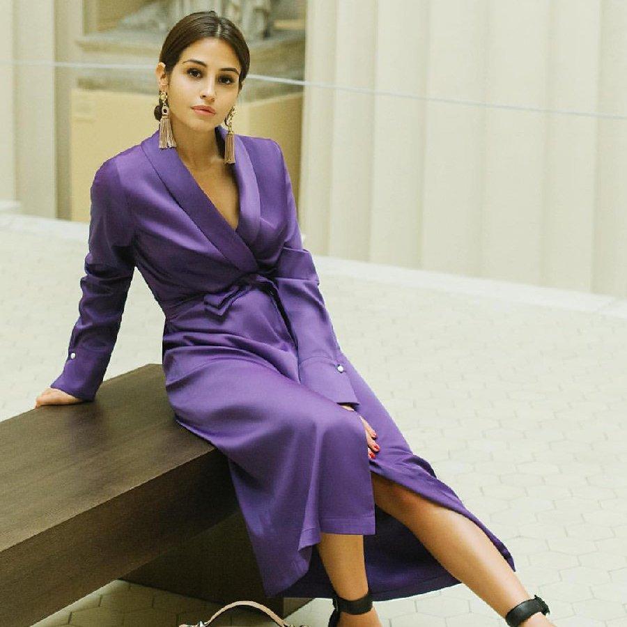 ежевичное платье